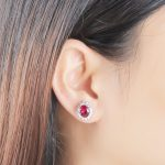 UMCHO-Luxury-925-sterling-silver-earrings-Red-Corundum-Stud-Earrings-For-Women-Bridal-Wedding-Party-Jewelry_2