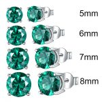 UMCHO-Solid-925-Sterling-Silver-Emerald-Gemstone-Stud-Earrings-for-Women-Engagement-Wedding-Valentine-s-Day_2