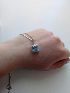 Nano Sky Blue Topaz Jewelry Set photo review