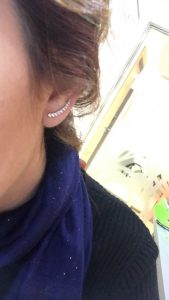Cubic Zirconia Long Wire Ear Climber photo review