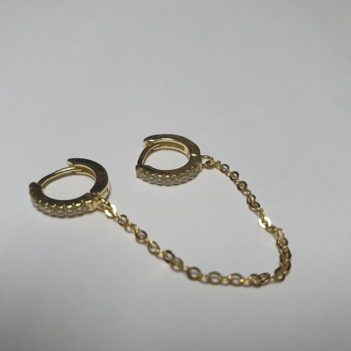 Double Huggie Hoop with Tassel Earring for 2 Piercing photo review