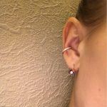 Cubic Zirconia Circle Stackable Ear Cuff photo review